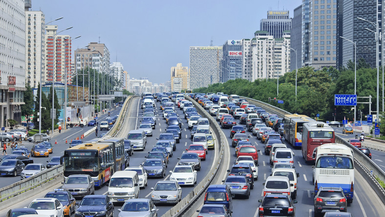 Chiny, korki, samochody