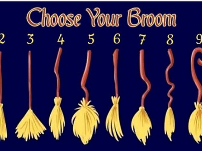Pažljivo izaberite metlu - ona će otkriti MNOGO TOGA o vama: A ako ste izabrali treću, ZAVIDIMO VAM