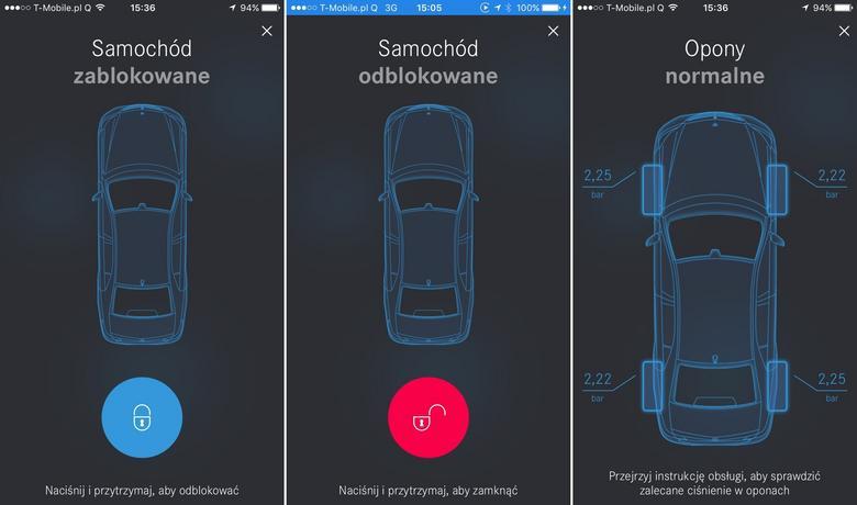 Mercedes Me - kontrola zamków i ciśnienia w oponach