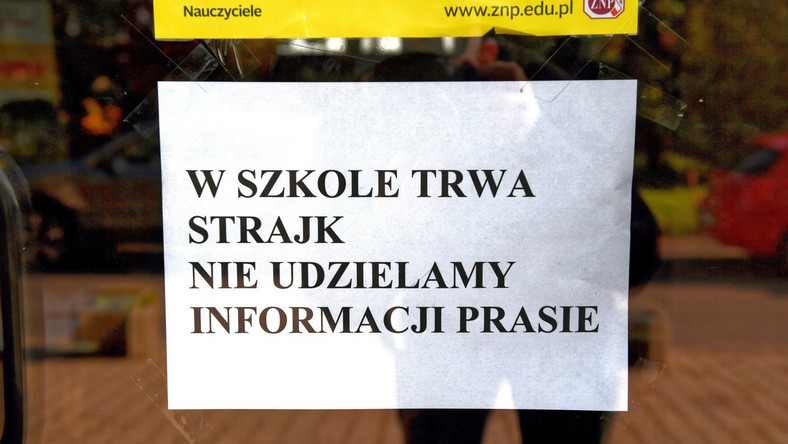 Strajk nauczycieli w jednym z przedszkoli w Przemyślu