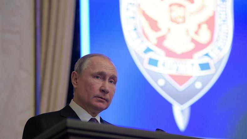 Władimir Putin w Moskwie