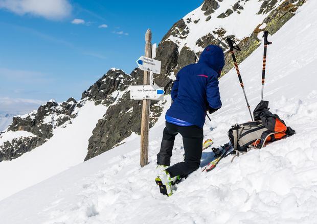 Narciarz w Tatrach