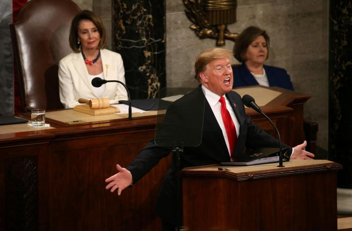 U.S. President Donald Trump delivers his second State of the Union address to a joint session of the