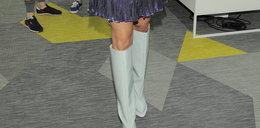 Która polska gwiazda włożyła takie buty latem?