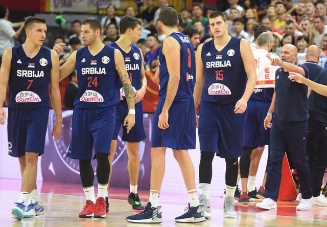 Reprezentativci Srbije na utakmici protiv Italije