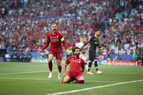 Mohamed Salah proslavlja pogodak u finalu Lige šampiona