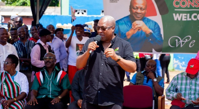 I'll ensure fair distribution of opportunities for all Ghanaians and not family and friends - Mahama