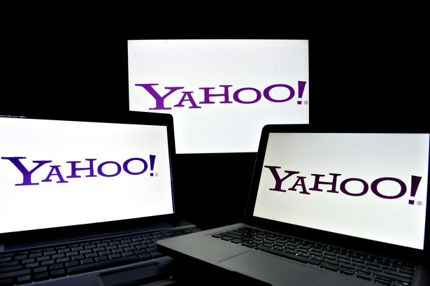 Logo Yahoo. Fot. Daniel Acker/Bloomberg