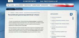 Komorowski wykupił stronę Kaczyńskiego?