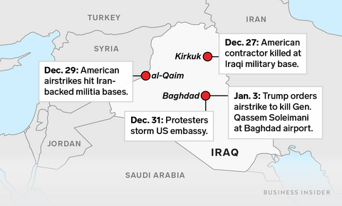 This map shows where US-Iran tensions are flaring in Iraq ...