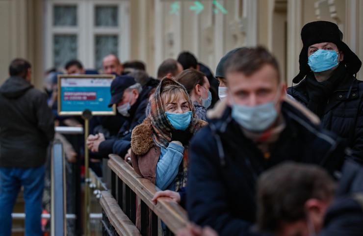 Red za vakcinisanje u Moskvi