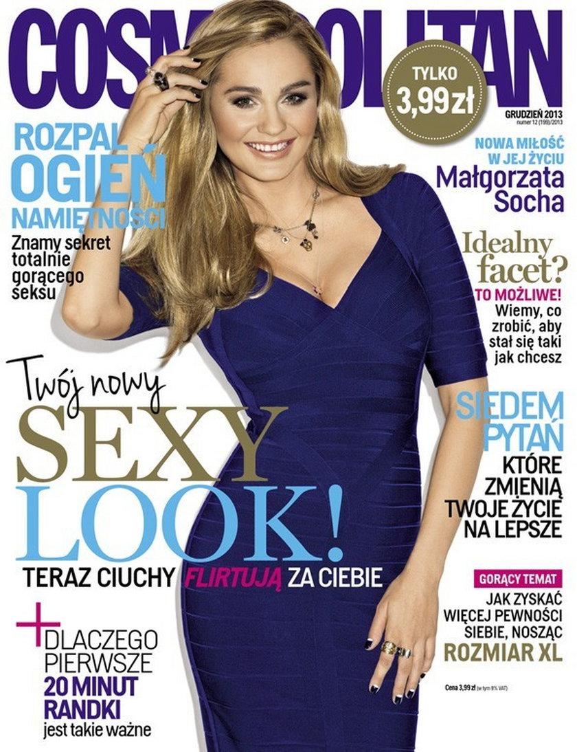 """Małgorzata Socha na nowej okładce """"Cosmopolitan"""""""