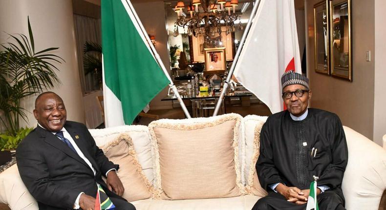President Cyril Ramaphosa and Muhammadu Buhari (South Africa government)