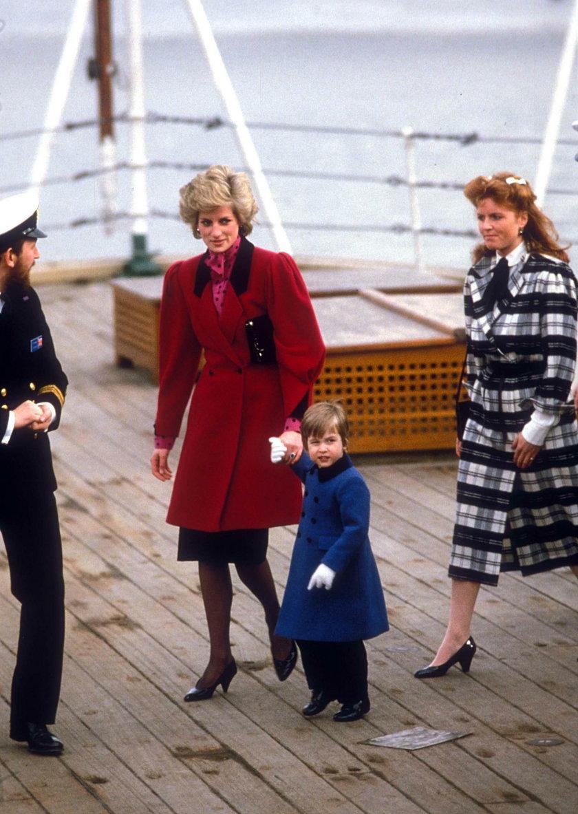 Księżna Diana, książę William i Sarah Ferguson