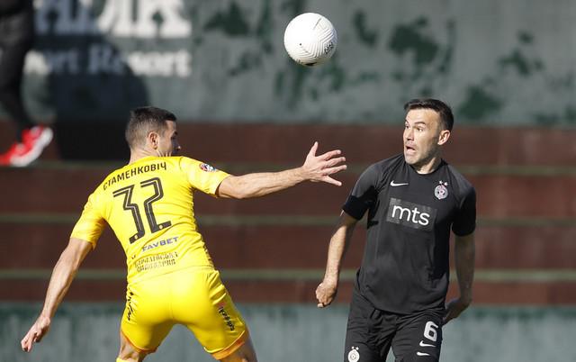 Bibras Natho na prijateljskoj utakmici FK Partizan - Ruh