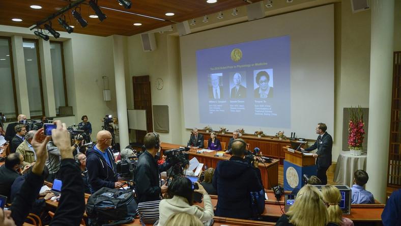 Ogłoszenie nazwisk laureatów Nobla z medycyny i fizjologii