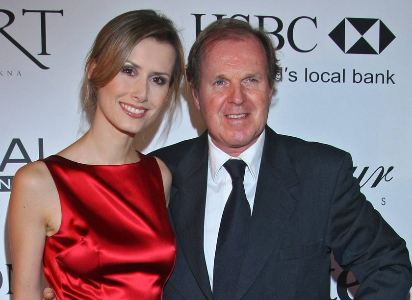 Wojciech Fibak z żoną Olgą