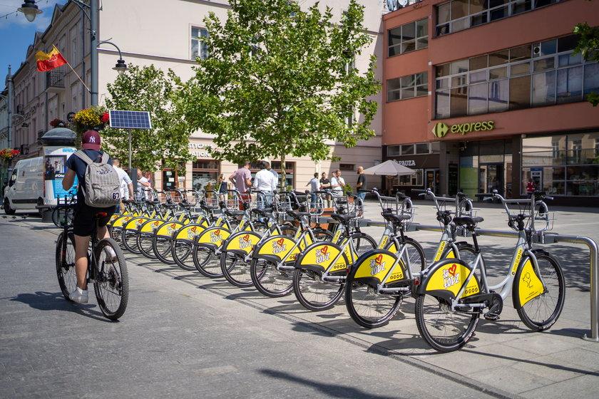 Pierwsze rowery miejskie na ulicach Łodzi