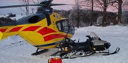 Skuter śnieżny zderzył się ze śmigłowcem pogotowia. Ranny lekarz