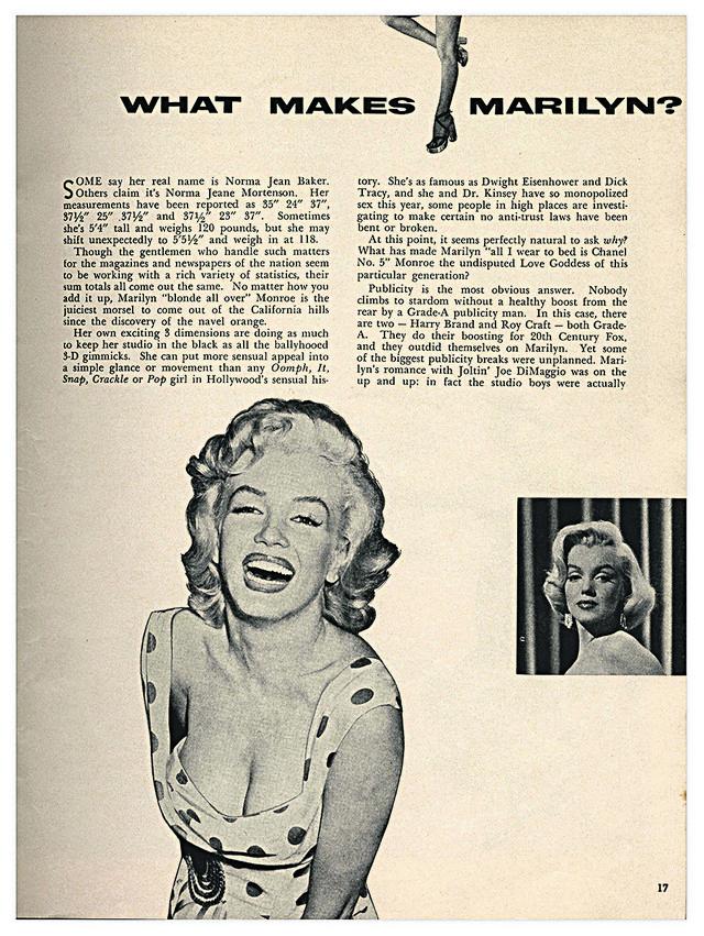 Tekst o Merilin Monro u prvom broju Plejboja