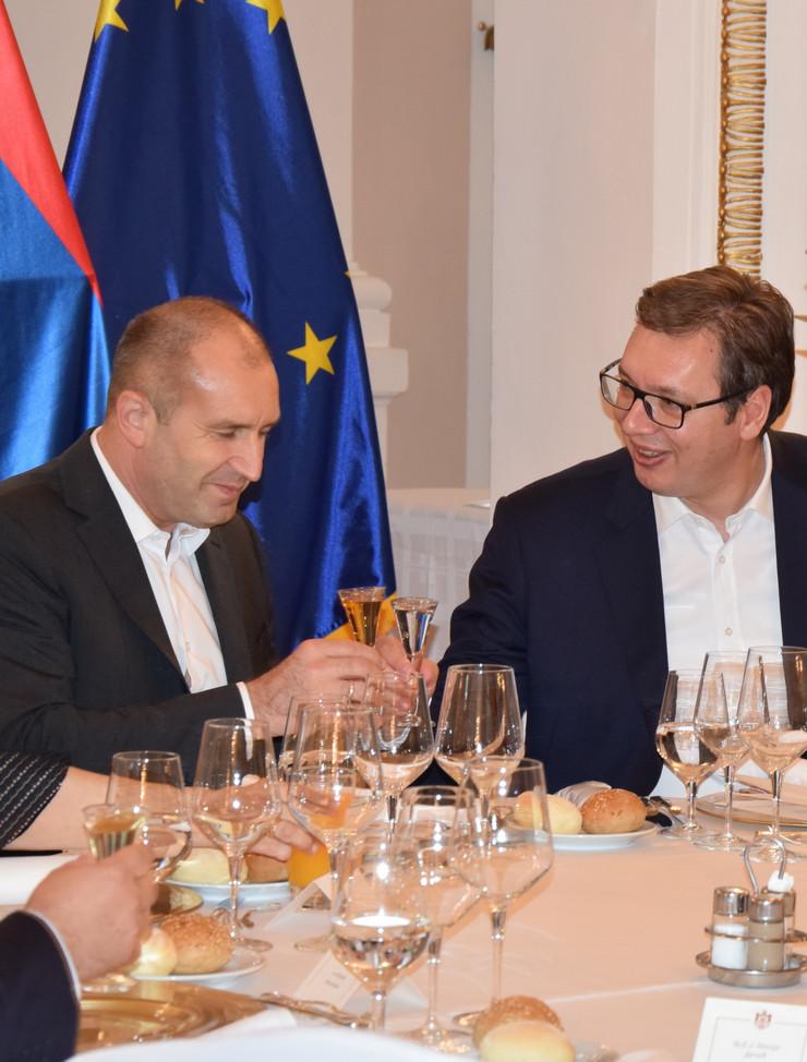 Rumen Radev Aleksandar Vučić večera Promo