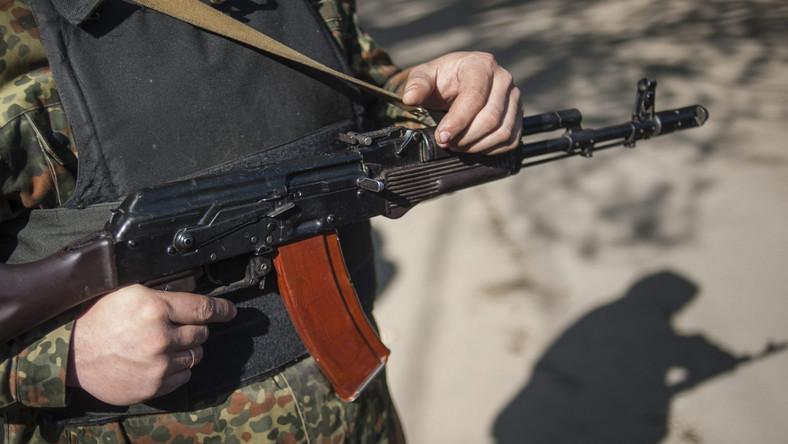 Prorosyjscy bojówkarze w Słowiańsku