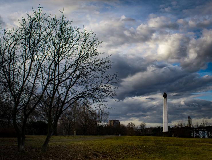 mestimicno oblacan zimski dan
