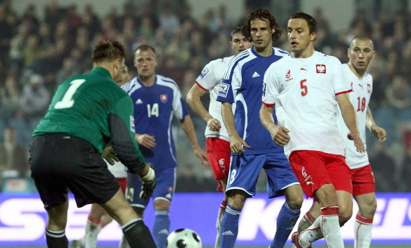 Mecz Słowacja-Polska w Bratysławie w październiku 2008 r.