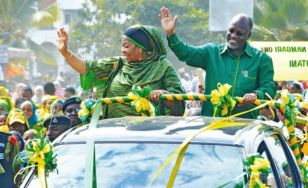 Magufuli and his wife Janet at a past event.