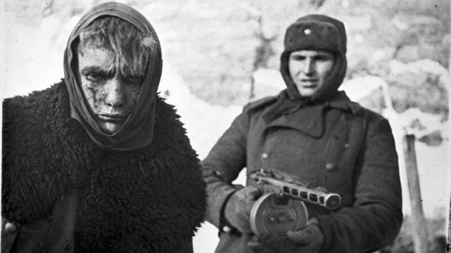 Niemiecki jeniec w Stalingradzie