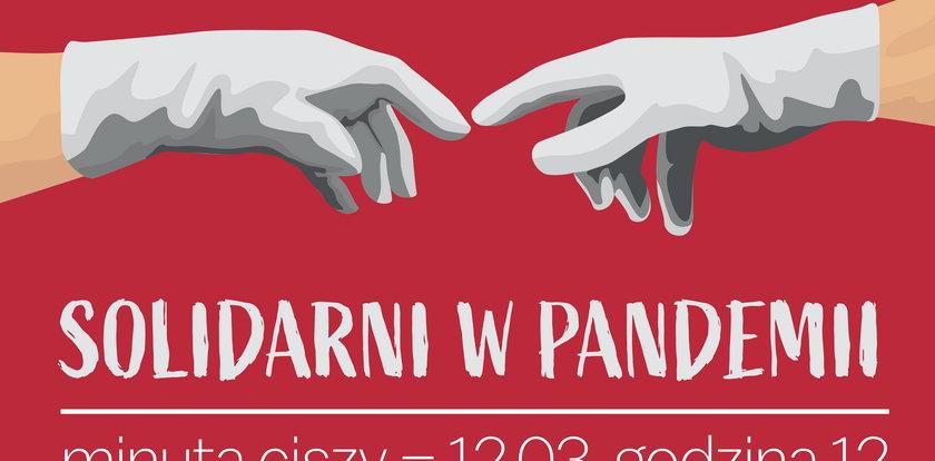 Solidarni w pandemii - minuta ciszy w piątek o godz. 12