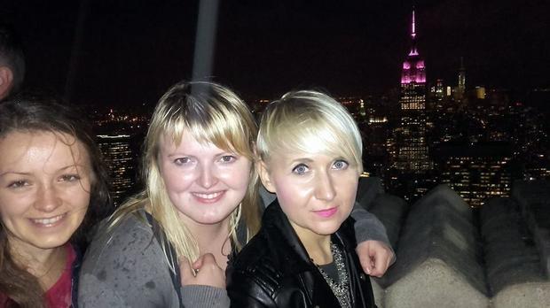 Martyna Mierzejewska ze znajomymi w Nowym Jorku