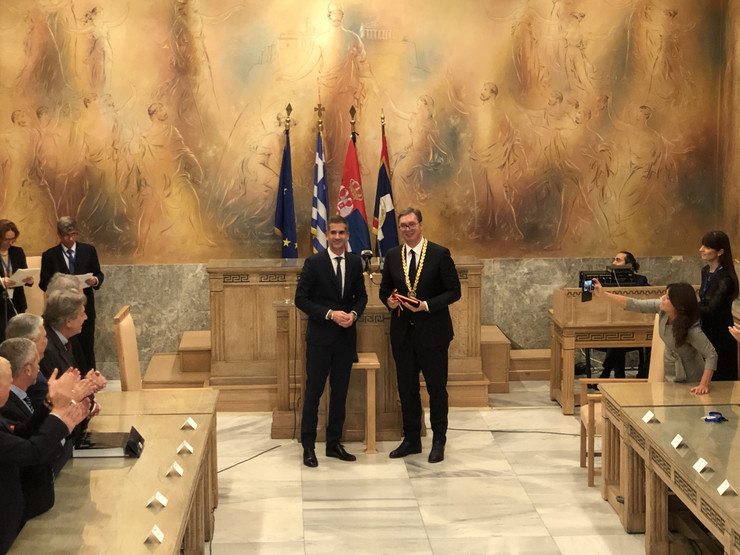 Aleksandar Vučić, Kostas Bakojani, Atina, Zlatna medalja, Poseta, Grčka