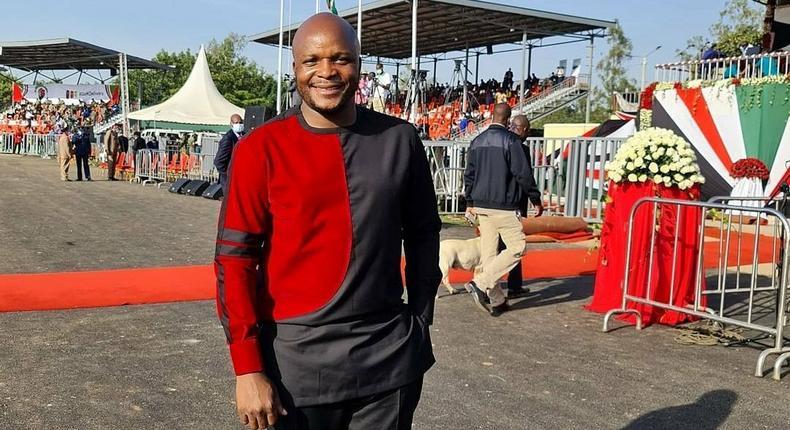 Jalang'o at the Jomo Kenyatta Stadium in Kisumu for the Madaraka Day celebration