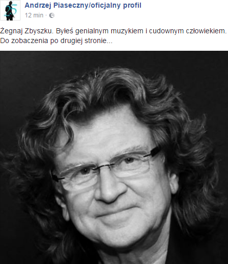 Andrzej Piaseczny na Facebooku