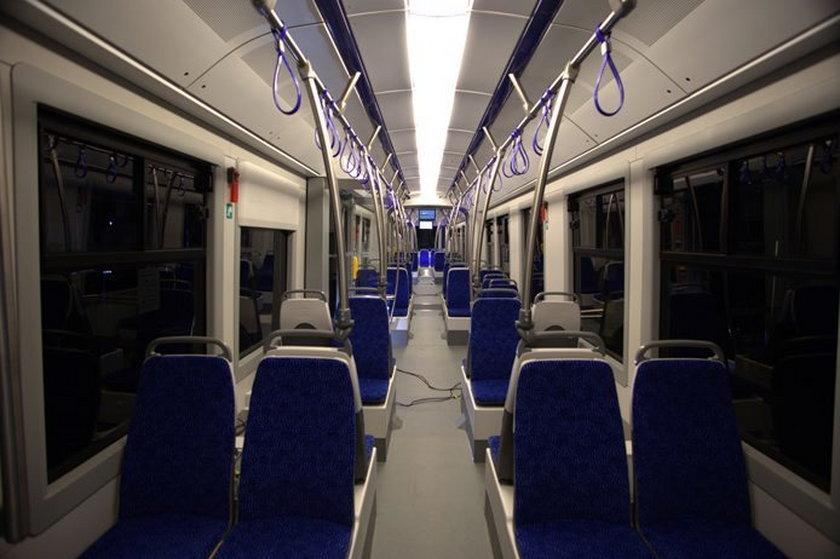 Wnętrze nowego tramwaju