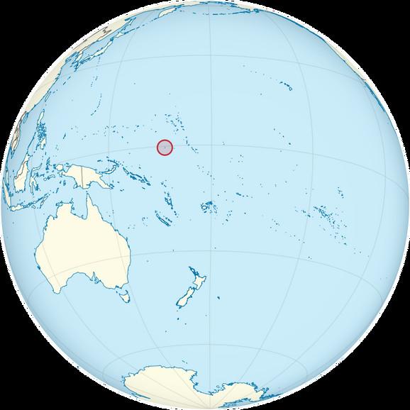 Nauru: Mala crvena tačka na mapi