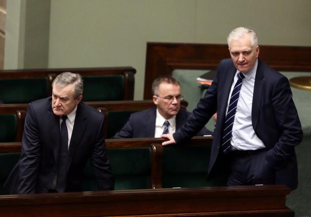 Wicepremier Gliński, wiceminister kultury Jarosław Sellin i minister nauki Jarosław Gowin