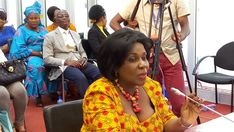 The Minister of Sanitation and Water Resources, Mrs Cecilia Dapaah
