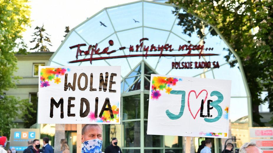 """Protest w obronie Trójki """"Stop cenzurze!"""" (22.05.2020)"""