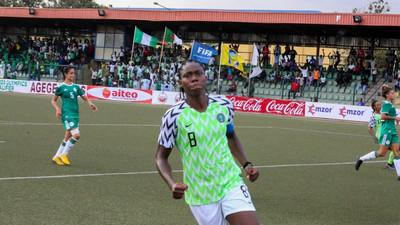 Asisat Oshoala scores as Super Falcons of Nigeria beat Algeria in 2020 Tokyo Olympics qualifier