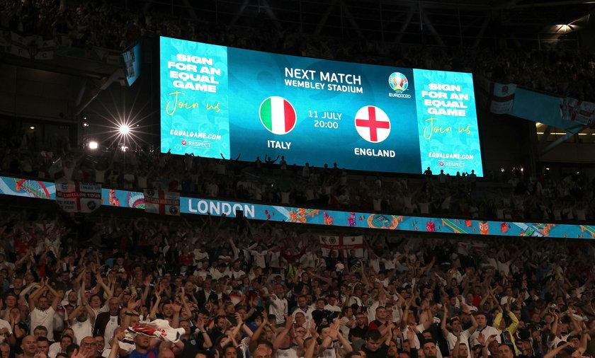 Mecz Włochy - Anglia rozpocznie się o 21.00 w niedzielę 11 lipca.