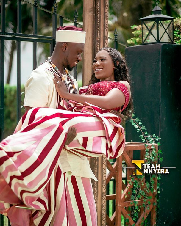 Ghanaian actress, Victoria Lebene and Eugene ties the knot.