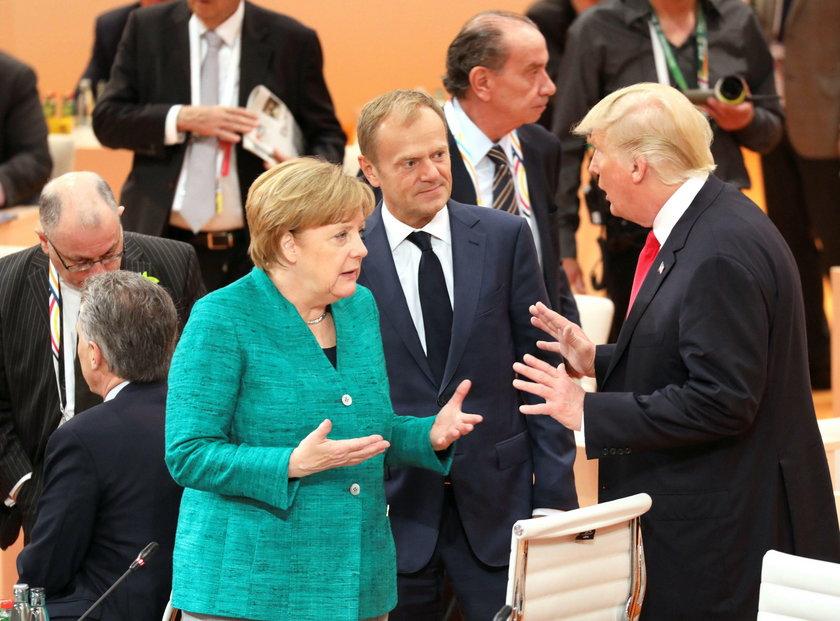 Angela Merkel, Donald Tusk i Donald Trump
