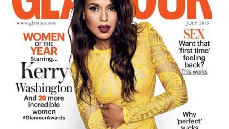 Kerry Washington covers Glamour UK July 2015 issue