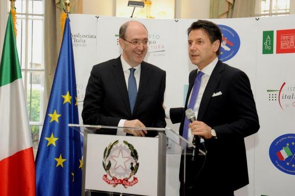 Ambasador Lo Kašo i italijanski premijer Đuzepe Konte