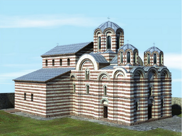 Crkva svetog Nikole, zamišljeni izgled crkve sredinom 15. veka
