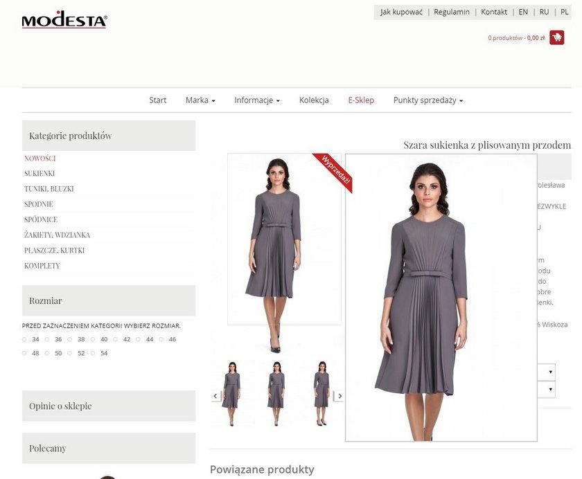 Sukienka z plisowanym przodem kosztuje 660 złotych