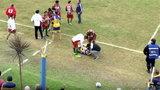 Śmierć piłkarza na boisku. Makabryczne sceny