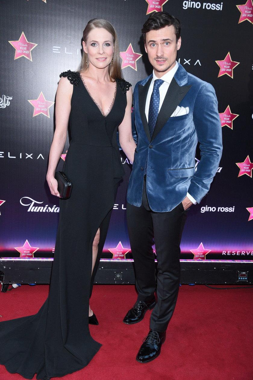 Mateusz Damięcki i Paulina Andrzejewska